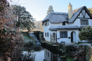 Cottage below the mill ponds at Westcott