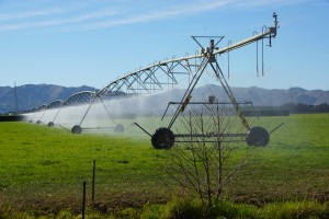 Watering the land